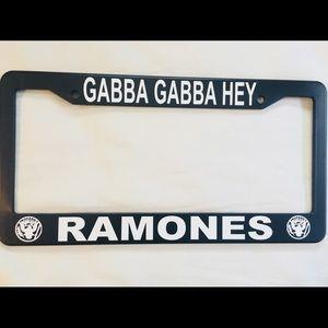 GABBA GABBA HEY RAMONES  License Plate Frame